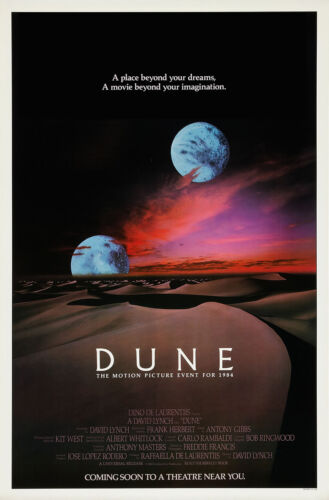 LYNCH/'S DUNE  Sci-Fi Movie Poster DREAMS FANTASY 24X32 inch
