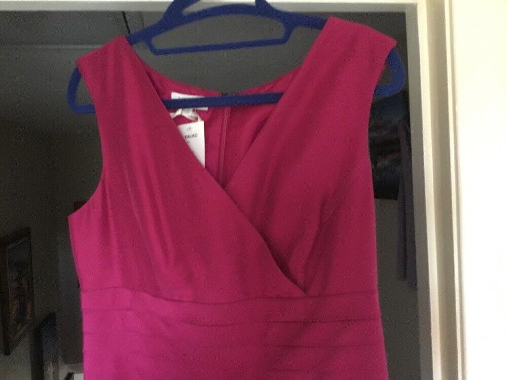 Beautiful Magenta Kaliko Dress Size 10 BNWT Wedding Races