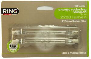 Ring Halogen Linear J118  R7s Energy Saving 120W = 150W Crisp White Light Bulbs