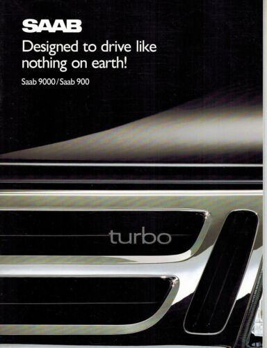 SAAB 900 9000 SERIES SALES BROCHURE 1989