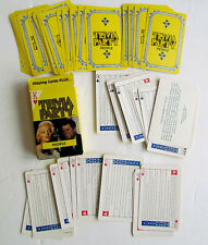 VINTAGE PLAYING CARDS DECK w/BOX TRIVIA PARTY PEOPLE GAME MARYLIN MONROE KENNEDY
