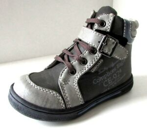 e7052330a0256 BOTTINES 22 CHAUSSURES MONTANTES gris zip lacets COMPLICES bébé ...