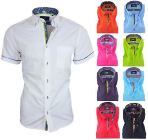 Binder-de-Luxe-Herren-Hemd-Shirt-Herrenhemd-Kurzarm-mit-Brusttasche-829