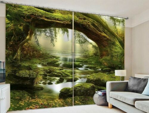 Forest Window Drapes Tree Window Curtain Scenery Curtain Bedroom Livingroom Dorm