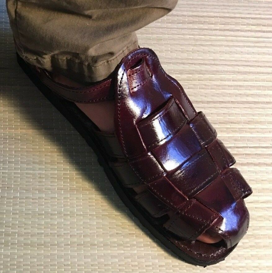 Traditional Mexican huarache Sandals Men Closed Toe Casual dress Woven pachuco