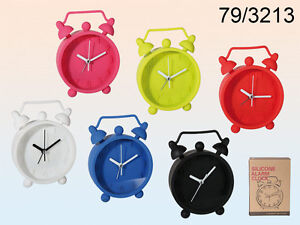 SILICONE CLOCK WALL ALARM CLOCK FUN DISPLAY IDEAL GIFT BEDROOM BEDSIDE