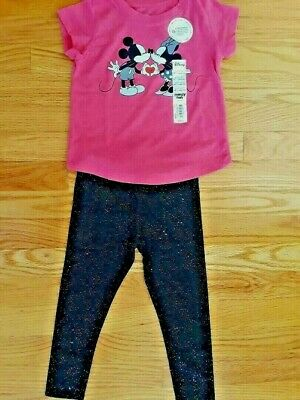 Minnie Mouse Girl/'s Denim Overall Outfits Sizes Infant and Toddler Pink Top