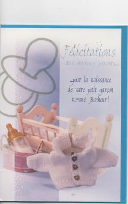 Behendig Carte Félicitations.félicitations Heureux Parents Tétine Argentée 18,5 X 12,5 Cm