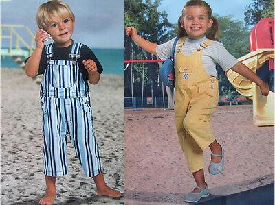 Kinder Kleinkinder Latzhose Hose gelb blau/weiß gestreift Gr. 86, 92, 98, 104