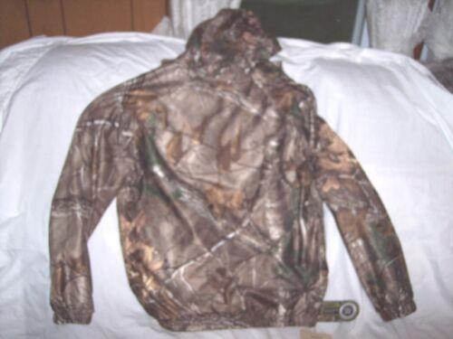 Boys XL Rain Coat Non Insulated Rain Jacket Hooded Realtree Camo Hunting Coat XL