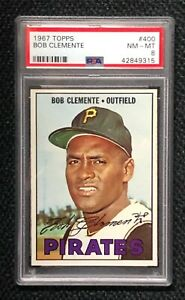 Pittsburgh-Pirates-Roberto-Clemente-1967-Topps-400-PSA-NM-Mt-8