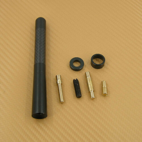 "New Short Screw Type 4.7/"" 12cm Carbon Fiber Antenna For Saturn Sky Vue"