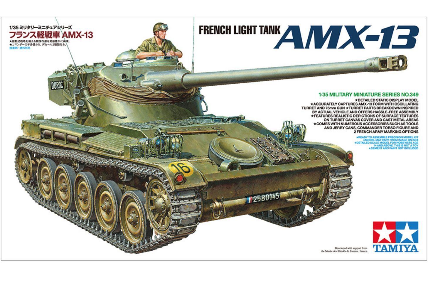 French Light Tank AMX-13 - Tamiya 35349 1 35 Scale kit