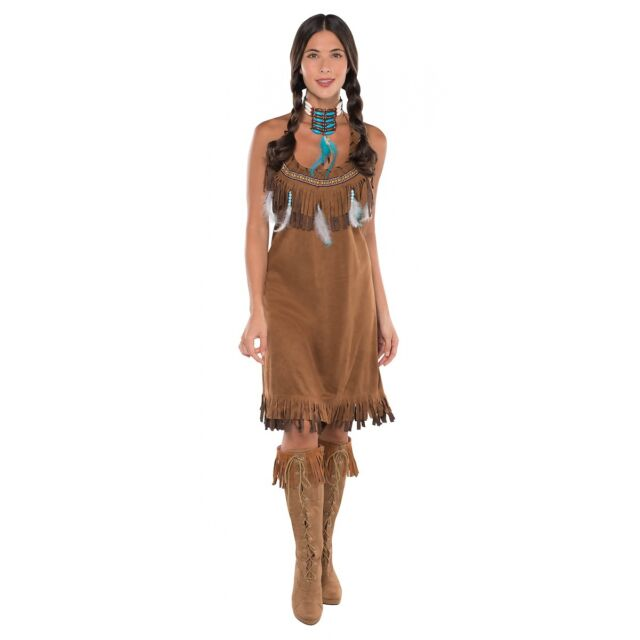 Indian Costume Adult Princess Pocahontas Halloween Fancy Dress  sc 1 st  eBay : cheap adult princess costume  - Germanpascual.Com