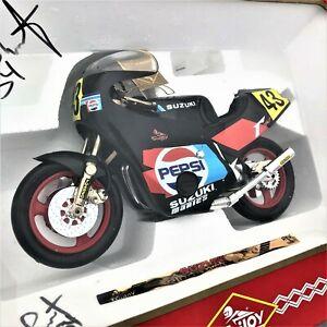 Vintage SUZUKI 1/10 PEPSI Die Cast Grand Prix Motorcycle Signed Kevin Schwantz