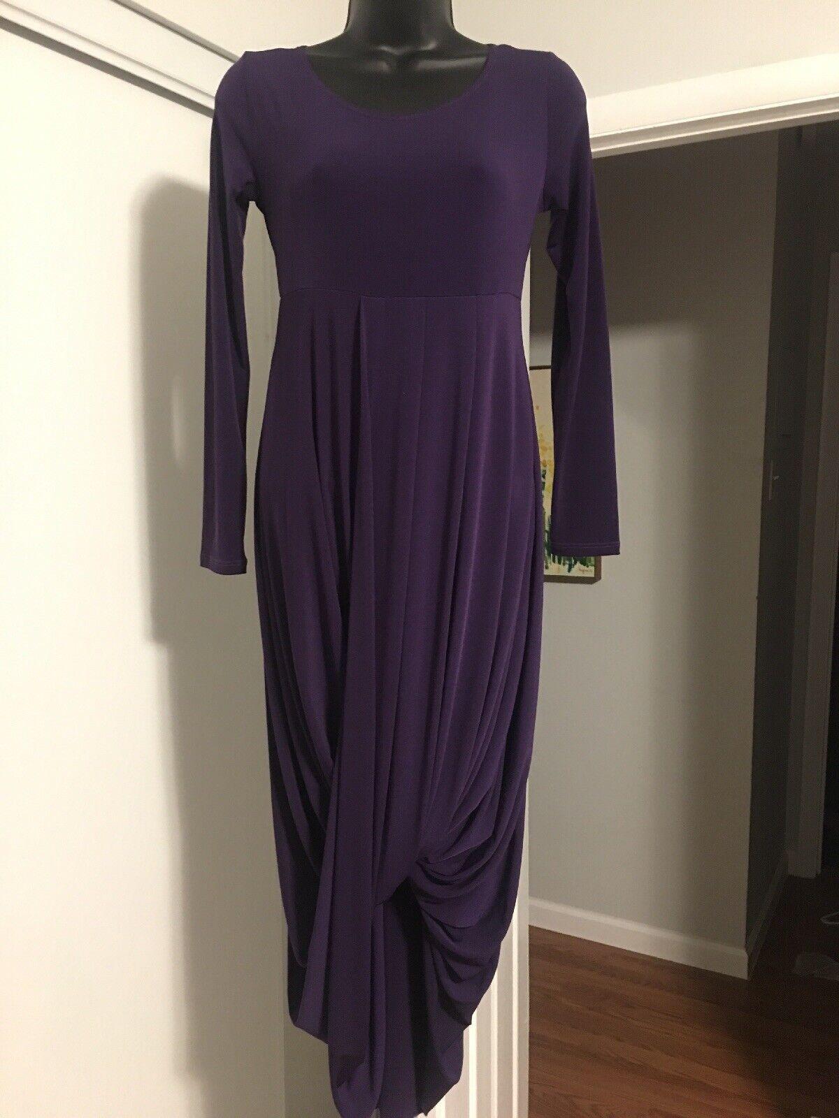 DUCCI Purple Long Sleeve Layered Throughout Knee Length Tunic Dress Sz S R1