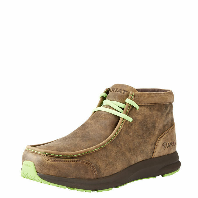 Ariat 10023191 Spitfire 4  Lime Laces Western Moc Toe Casual Lace Up Chukka shoes