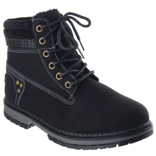 WOMENS LADIES LACE UP WORK BIKER COMBAT ARMY WINTER GRIP SOLE ANKLE BOOTS SHOES