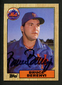 Bruce Berenyi #582 signed autograph auto 1987 Topps Baseball Trading Card