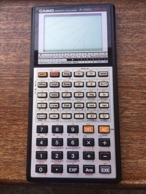casio fx7000g manual