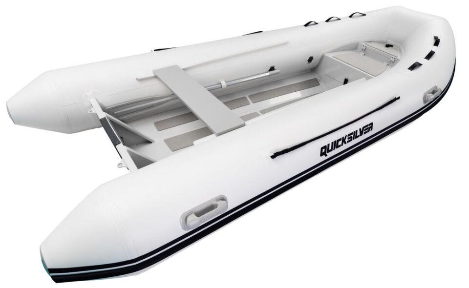 Ny - Quicksilver 380 Alu Rib - hvid