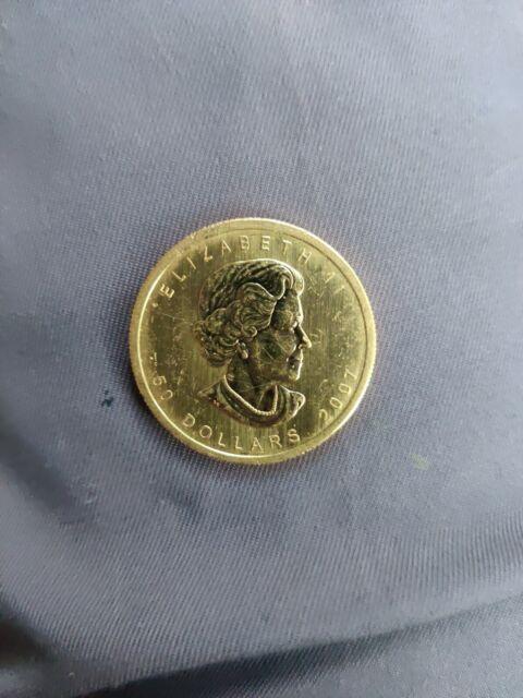 2007 Canada Maple Leaf 1 oz. troy  0.9999 Fine Gold $50. Bullion Coin