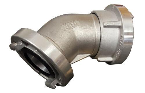 Codo 45 ° Storz a b c girable acoplamientos en calidad DIN arcos de acero inoxidable