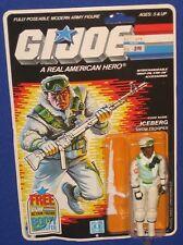 """Gi Joe Iceberg Snow Trooper 3.75"""" Action Figure MOC Unpunched Hasbro 1983 1985"""