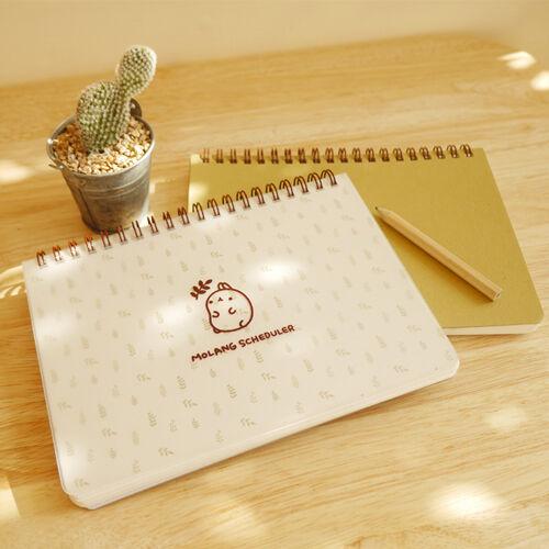 Molang Scheduler Ver.2 Cute Undated Diary Planner Journal Organizer Agenda