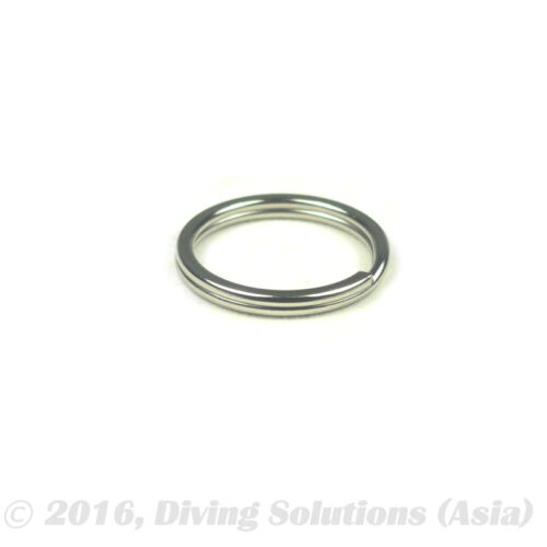 "10pc x Stainless Steel SS Split Ring 25mm 1"" BCD Attachment Scuba Diving"