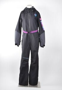 2018-NWT-WOMENS-O-039-NEILL-89-Out-OF-CONTROL-FULL-SKI-SUIT-M-Black-Out