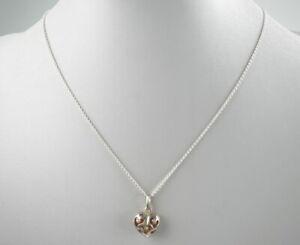 huebsche-925er-Silber-Halskette-amp-Anhaenger-Sterlingsilber-Bernstein-4-20g
