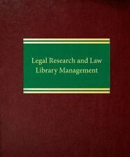 Law Office Management Legal Research Law Library Management Mark Sloan Ryan 2009
