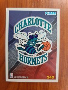 Carte Fleer Collection Basketball 🏀 1995 Logo NBA #240 Charlotte Hornets