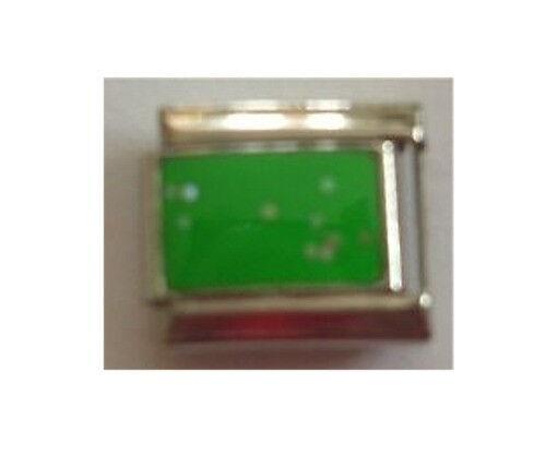 9mm Classic Size Italian Charms E17 Green Sparkle Charm