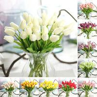 10pcs Home Wedding Garden Decor Artificial Fake Tulip Silk Flower Hydrangea