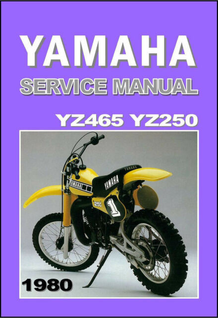 yamaha workshop manual yz465 yz465g yz250 yz250g 1980 vmx service rh ebay com 1976 yamaha yz 250 repair manual yamaha yz250 repair manual free download