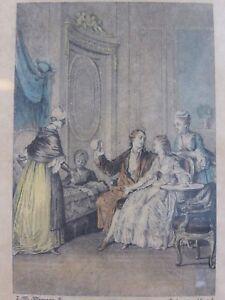 Litho Salon De The Gravure Mode 19ème Siecle Moreau Dubouchet Heureux Presage Y1lqhhym-10114604-341984443
