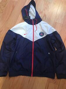 2017 2018 PSG Nike Authentic Windrunner Jacket (Navy)