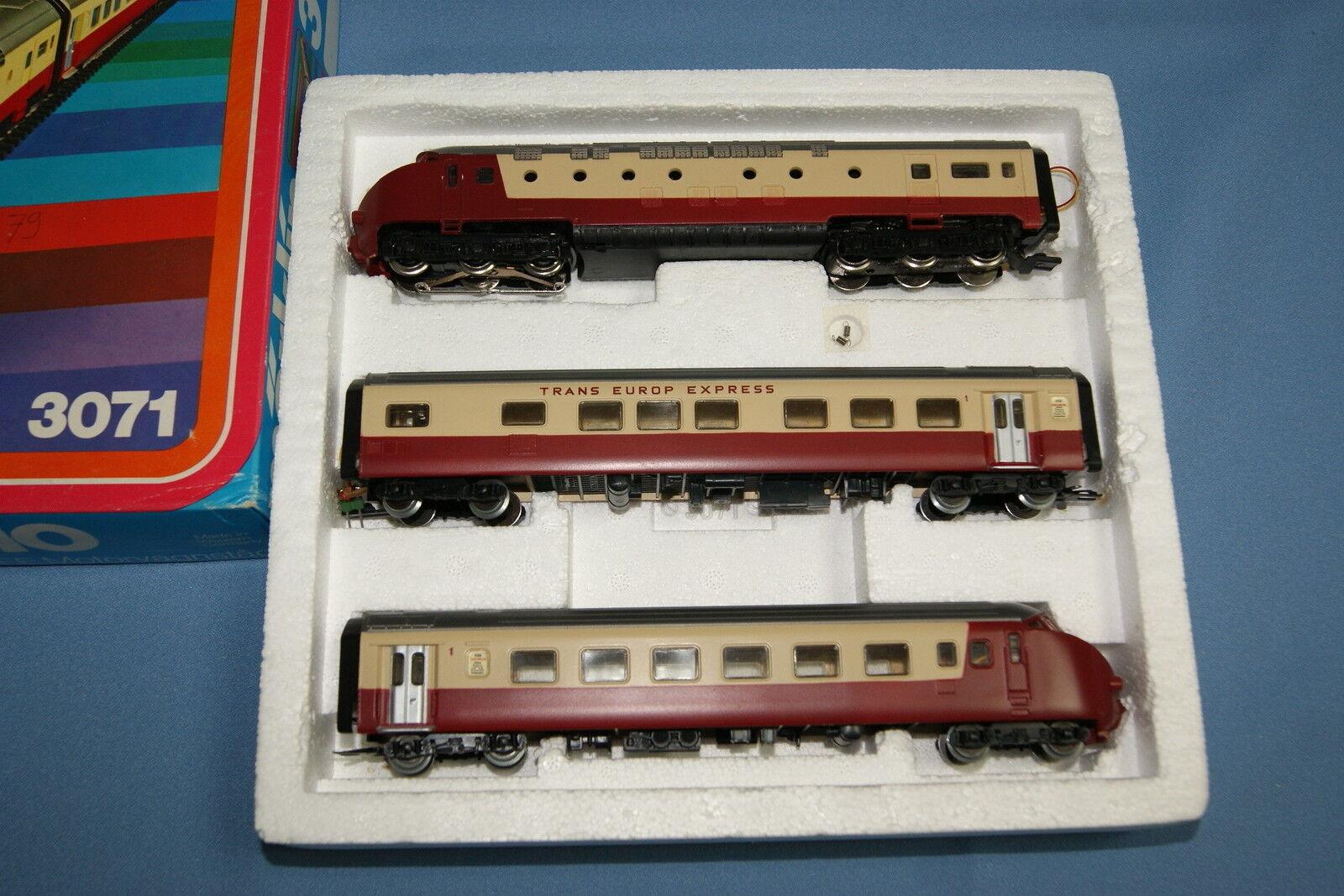 Marklin 3071 NS SBB TEE Dieseltågset Edelweiss Express Dark -röd OVP