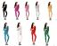 10 Colors Metallic Lycra Zentai Spandex Catsuit Costume Front Zip