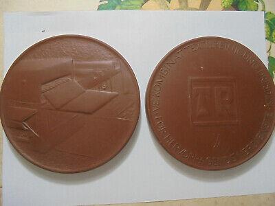 31174 1x Meißen Medaille Kombinat Textilreinigung Dresden 100mm Verdienste Medal