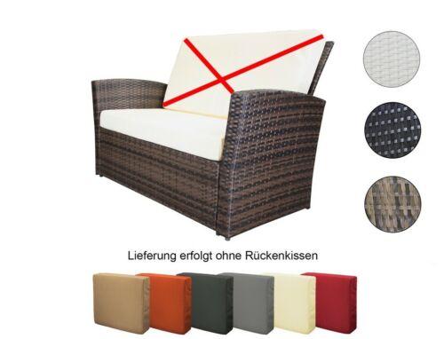 Coussin d/'assise en différentes couleurs Rotin Synthétique Banque banc rattanbank Incl