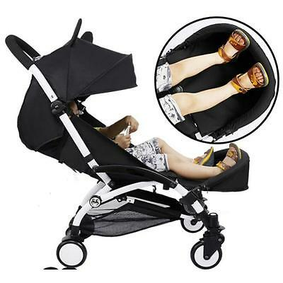 Black Extension Booster Seat Footrest Footset Bumper Bar For Baby Stroller Q