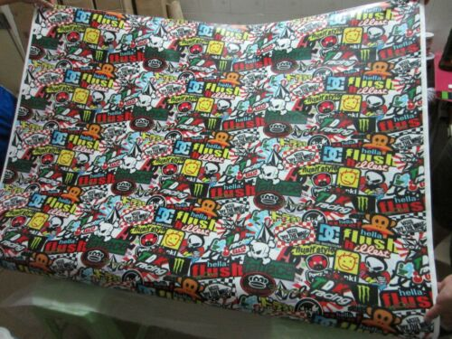 """12/""""x30/"""" Hellaflush Sticker Bomb Vinyl Film For Car Wrapping With Air Bubble Free"""