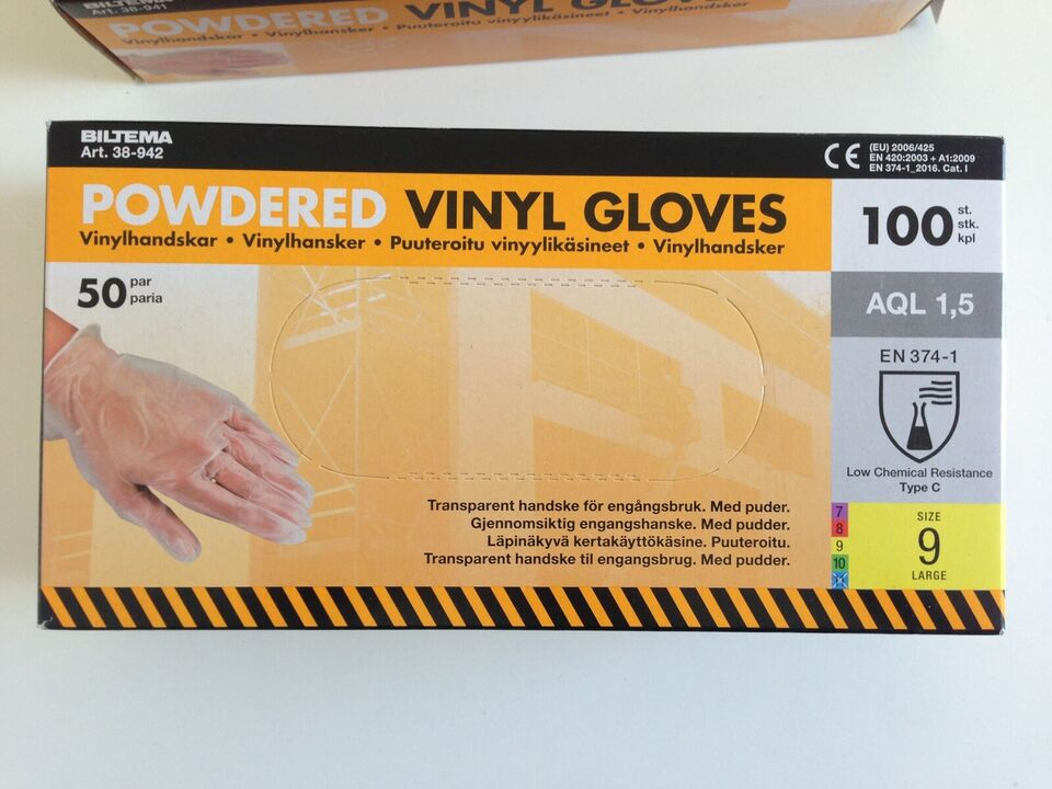 vinylhandsker gummihandsker hansker med puder