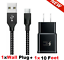 miniature 24 - 3/6/10FT Braided USB C Type-C Fast Charging Data SYNC Charger Cable Cord