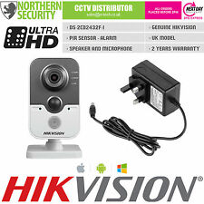 HIKVISION 2.8mm DS-2CD2432F-I 3 MP 2MP 1080P PIR Acoustique Micro Onvif Cube