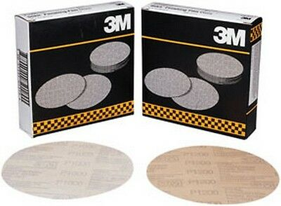 "3m 1318 Stikit™ Finishing Film Disc 01318, 6"" , P1200, 100 Discs/bx Facile Da Riparare"