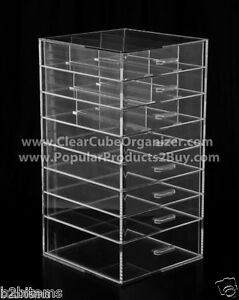Acrylic-Lucite-Clear-Cube-Makeup-Organizer-The-Kardashians-Display-8-pull-out-dr